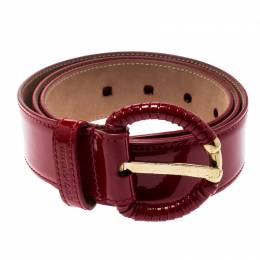 Dolce and Gabbana Red Patent Leather Belt 90CM 196865