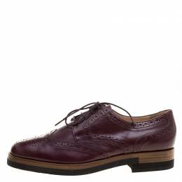 Joseph Burgundy Brogue Leather Derby Size 39 128720
