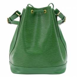 Louis Vuitton	 Borneo Green Epi Leather Noe Bag