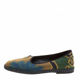 Etro Mulitcolor Brocade Loafers Size 37.5