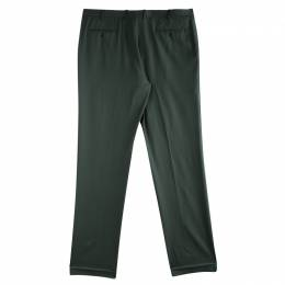 Brioni Olive Green Roman Style Wool Trousers 4XL