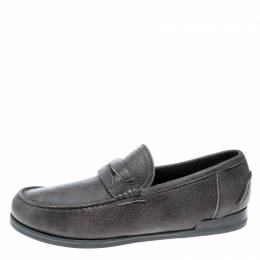 Dolce and Gabbana Brown Leather Genova Loafers Size 41.5 159855