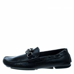 Philipp Plein Black Leather Studded Loafers Size 39.5