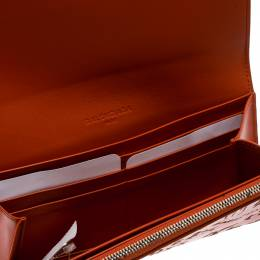 Balenciaga Copper Leather Valentine's Day Essential Continental Wallet 174603