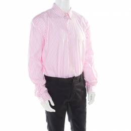 Ralph Lauren Pink Striped Cotton Logo Embroidered Oxford Shirt 2XB