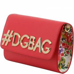 Dolce and Gabbana Red Leather DG Girls WOC Clutch Bag 199285