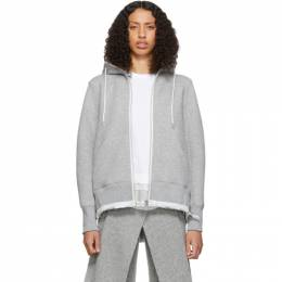 Sacai Grey Sprong Sweat Hoodie 192445F09700202GB