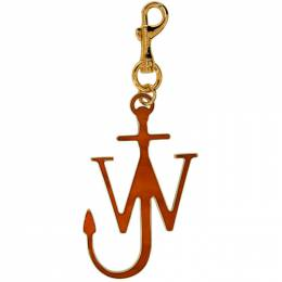 J.W. Anderson Orange and Gold Anchor Keychain 192477M14800201GB