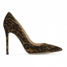 Gianvito Rossi Brown and Black Leopard Pumps
