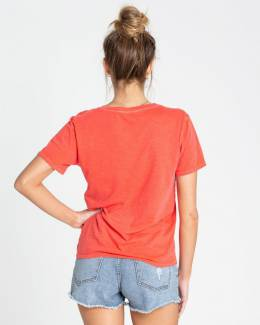 Футболка женская BILLABONG Sun Your Buns Sunset Red 3664564506544