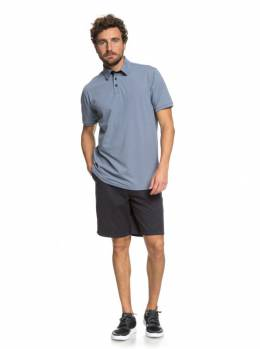 Рубашка-поло мужская QUIKSILVER Reeldealpolo M Blue Shadow Heathered 3613373407566