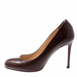Christian Louboutin Brown Leather New Simple Pumps Size 39