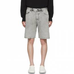 Diesel Grey Denim D-Willoh Shorts SEDH 0NAWA