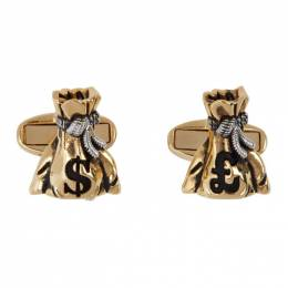 Paul Smith Gold and Silver Money Bag Cufflinks 192260M14300401GB