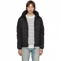 Canada Goose Black Down Lodge Hooded Jacket 5078M