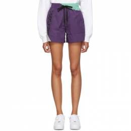 T by Alexander Wang Purple Heavy Washed Shorts 4WC2194017