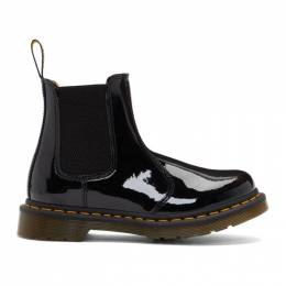 Dr. Martens Black 2976 Patent Chelsea Boots 192399F11304501GB