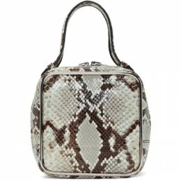 Alexander Wang Grey Snake Halo Bag 192187F04600301GB