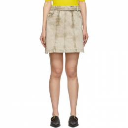 Proenza Schouler Taupe Denim Zipper Skirt WL1939070