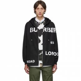 Burberry	 Black Horseferry Hooded Jacket 192376M18000401GB