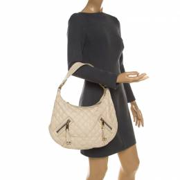 Marc Jacobs Cream Quilted Leather Banana Hobo Bag 207728