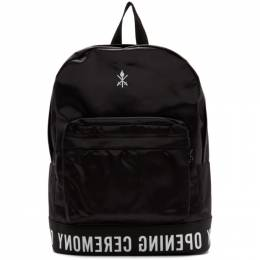 Opening Ceremony Black Logo Backpack 192261M16600201GB