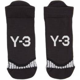 Y-3 Black Invisible Socks 192138M22000603GB