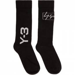 Y-3 Black Two Logos Socks 192138F07600102GB