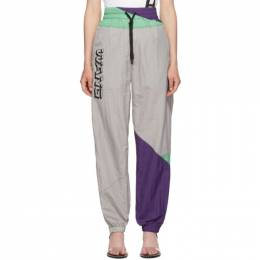 T by Alexander Wang Grey Wash and Go Colorblock Lounge Pants 192214F08600402GB