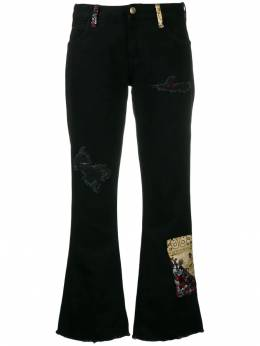 Alanui - bandana patch flared jeans A663E99653693W988950