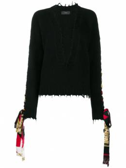 Alanui - bandana lace-up jumper E665E996696939688950