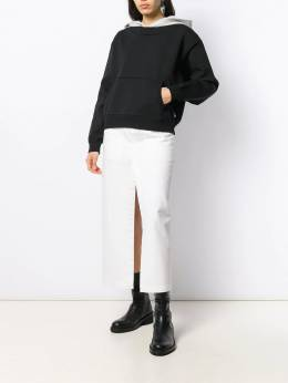 T By Alexander Wang - layered cropped hoodie 09996359599939300000