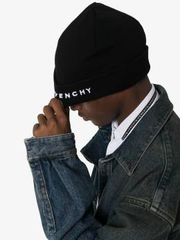 Givenchy - embroidered logo beanie hat 66LG69D9593936600000