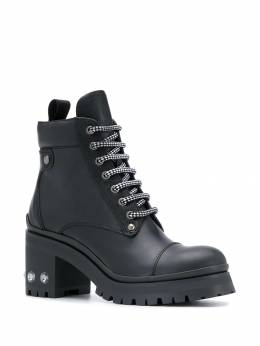 Miu Miu - mid-heeled lace-up boots 36CF6863KL8950500860