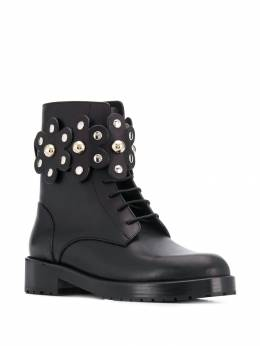 Red Valentino - RED(V) Flower Puzzle boots S6C56LMT959988930000