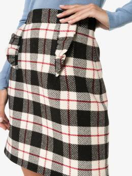 Miu Miu - ruffle-detail checked skirt 366K3N93396935000000