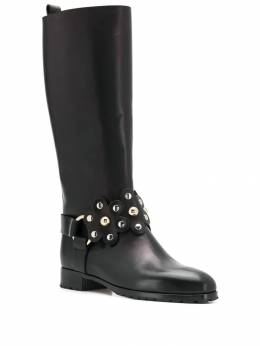 Red Valentino - flower puzzle boots S6C53LMT959936650000