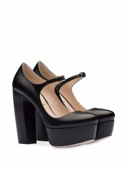 Miu Miu - platform Mary Jane pumps 568F936XUQ9593038300