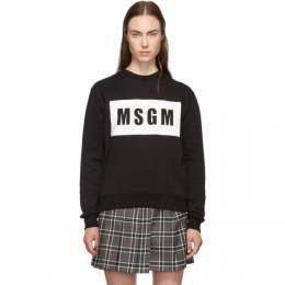 MSGM Black Box Logo Sweatshirt 192443F09800505GB