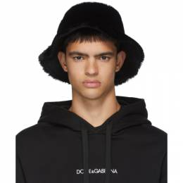 Dolce and Gabbana Black Star King Bucket Hat 192003M13900301GB