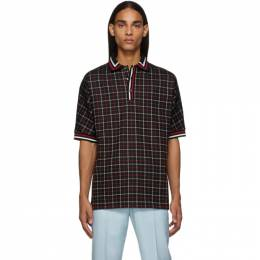 Paul Smith Black and Red Tattersall Check Polo 192260M21201001GB