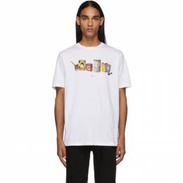 PS by Paul Smith White Oil Cans T-Shirt 192422M21302803GB
