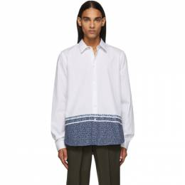PS by Paul Smith White Floral Tailored Shirt 192422M19201204GB