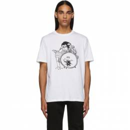 PS by Paul Smith White Monkey Drum T-Shirt 192422M21303002GB