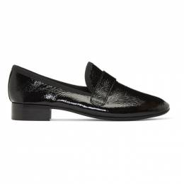 Repetto Black Wrinkled Patent Maestro Loafers 192296F12100504GB