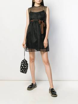 Miu Miu - see-through sleeveless flared dress 59395395035500000000