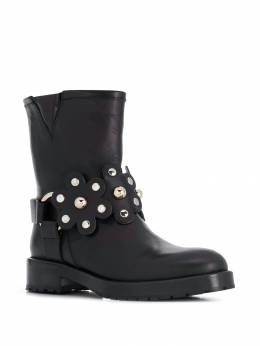 Red Valentino - floral buckled boots S6C55LMT950038090000