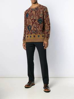 Etro - embroidered fitted sweater 96965395060555000000