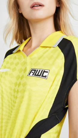 T by Alexander Wang Neon Front Tie Top with Collar