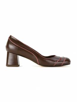 Sarah Chofakian contrast piped pumps LUDWIGGR40FORR